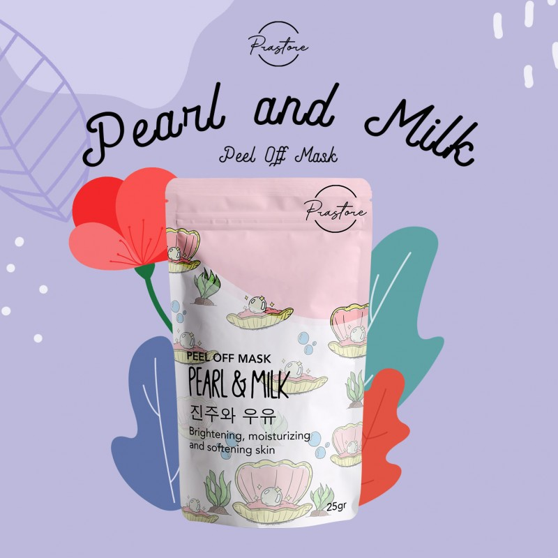 Peel off mask Pearls and Milk by Prastore