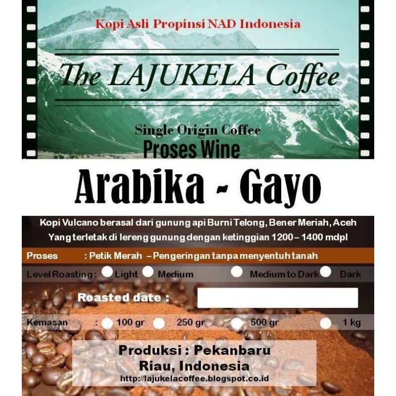 KOPI BUBUK ARABIKA GAYO- HONEY - 100 GR